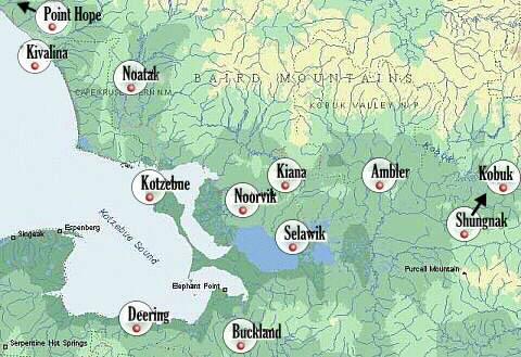 Northwest Arctic Borough Map