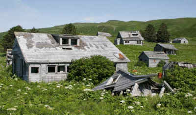 Abandoned village on Unga Island