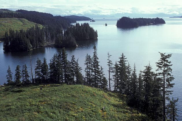Afognak coastline at Kazakof Bay