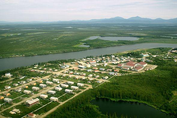 Noorvik Native Community arial view