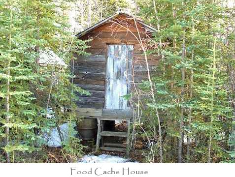 Raised food cache house