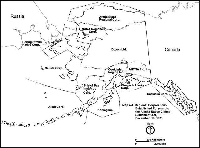 ANCSA regional corporations map