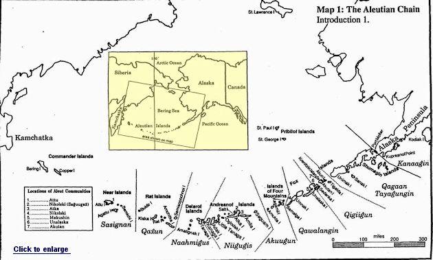 Aleutian Islands Map