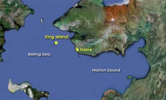 Nome and King Island Map